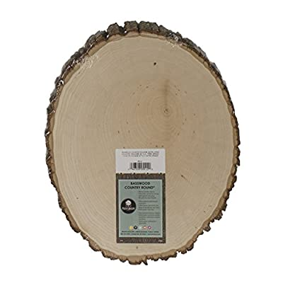 Walnut Hollow Basswood Country Round Extra Large for Woodburning Home Decor