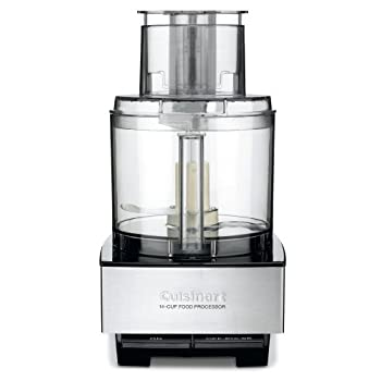The Cuisinart DFP-14 Custom Food Processor has an extra-large feed tube that holds whole fruits and vegetables. Features a 14-cup work bowl, 4mm stainless steel medium slicing disc, stainless steel shredding disc, chopping/mixing blade and dough blad...