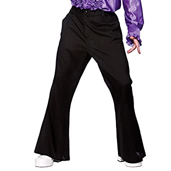 70's Flares (Black) - Adult Costume Accessory Men : SMALL