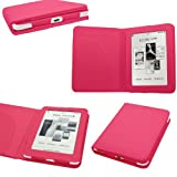 Samrick Executive Specially Designed Leather Book Wallet Case with Sleeve Slot for WHSmith Kobo Mini eReader - Pink