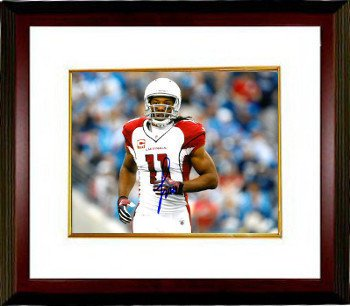 Larry Fitzgerald Autographed Arizona Cardinals 8x10 Photo #11 Custom Framed