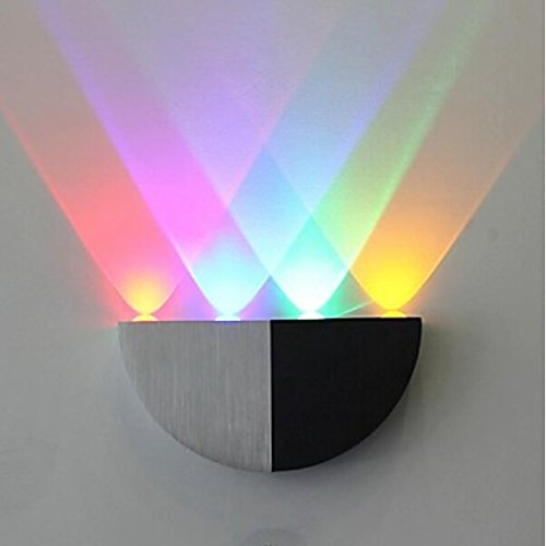 Led Semicircle Wall Lamp Four Lights Red Purple Green Yellow Aluminium Acrylic 100~240V Input front-418712