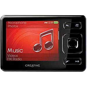 Creative Zen 16GB MP3, Video Player, FM Radio, SD Card Slot and Voice Recorder - BLACK, BULK PACKAGED