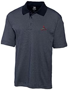 MLB St. Louis Cardinals Mens Drytec Resolute Polo Knit Short Sleeve Top by Cutter & Buck