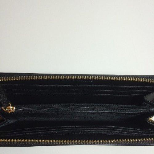 MICHAEL Michael KorsMichael Kors Jet Set Zip Around Continental Black Leather Wallet Clutch
