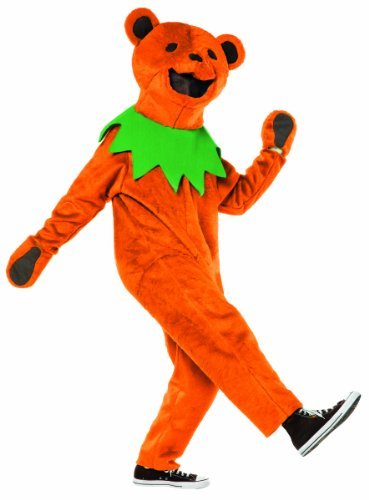 Rasta Imposta Grateful Dead Dancing Bear Costume, Orange, Adult