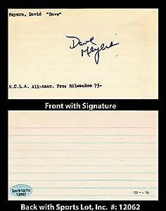 Dave Meyers Signed 3x5 Index Card UCLA Bruins Milwaukee Bucks SL Authentic