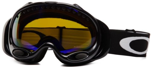 Oakley A Frame Oo7001 Jet Black Frame/High Intensity Amber Polarized Lens Plastic Sunglasses
