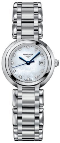 Longines PrimaLuna White Mother of Pearl Dial Stainless Steel Ladies Watch L81104876