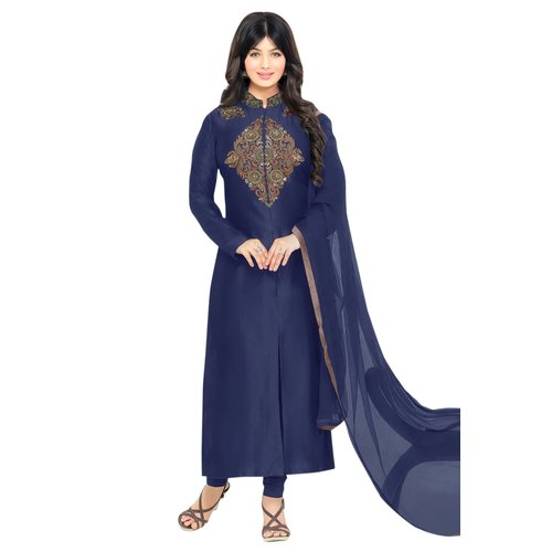 AnK-Festive-Special-Offer-Blue-Cotton-Semi-Stitched-Salwar-Kameez-Duptta-With-Embroidery