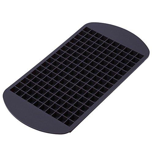 Ms. Hot & Mr. Cool - Glaçons foncé forme de silicone flexible pour 160 mini-glace, moule à glace, bac à glaçons (gris/ marron)