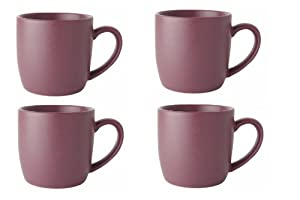 Now Designs Mineral Mugs, Plum, Set of 6