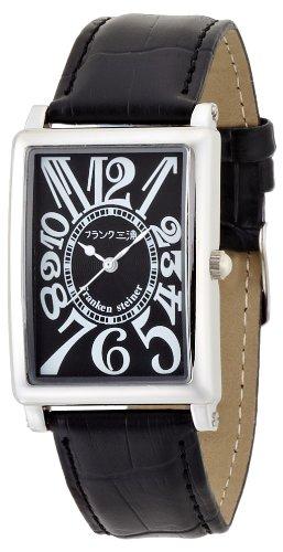[フランク三浦]FRANK MIURA 初号機(改) 美しき革命という異名を持つ伝説のモデル 正回転 完全非防水 腕時計 ジャパンクオーツ FM01K-BK