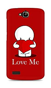 Amez designer printed 3d premium high quality back case cover for Huawei Honor Holly (Valentines day Special)