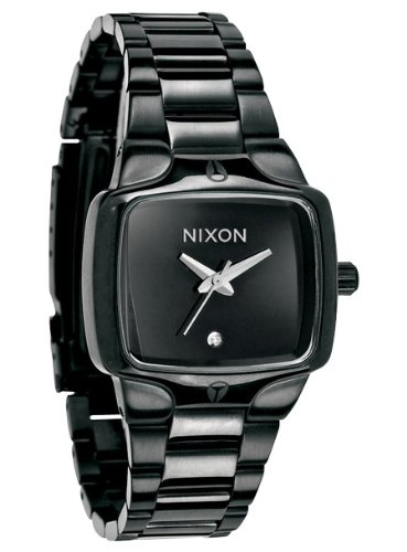 NIXON PLAYER A300-001-00 LADIES STAINLESS STEEL CASE MINERAL WATCH