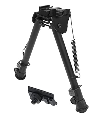 UTG Super Duty Tactical OP QD Bi-Pod, Center Height: 8.0 - 12.4-Inch, Leg Length: 7.9 - 12.7-Inch