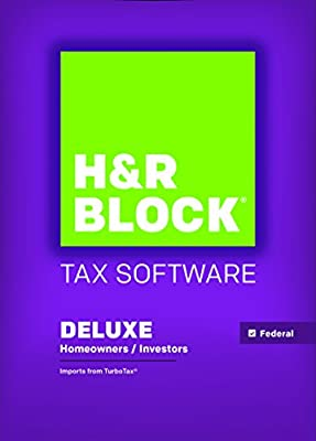 H&R Block Tax Software 2015 Deluxe (Windows or Mac)