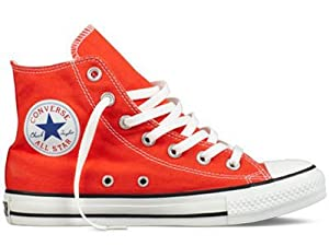 Converse Chuck Taylor All Star Seasonal Hi Sneaker,Cherry Tomato,Men's 3, Women's 5 M US