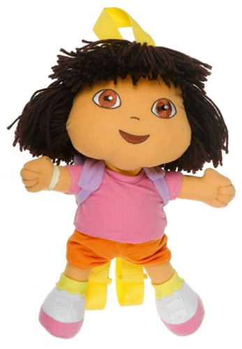 "Dora the Explorer DOLL 14"" Plush Backpack Doll - 1"