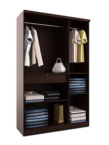 Beau Spacewood Value 3 Door Dresser Wardrobe (Natural Wenge)