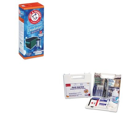 Kitchu3320084116Fao223U - Value Kit - Arm And Hammer Trash Can Amp;Amp; Dumpster Deodorizer (Chu3320084116) And First Aid Only, Inc. Bulk First Aid Kit For 25 People (Fao223U) front-807062