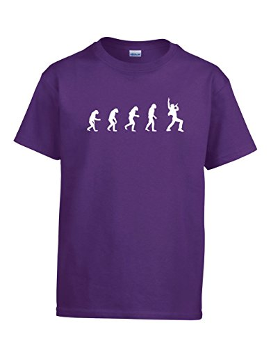 Shirtloco Boys Evolution Of Man To Singer Youth T-Shirt, Purple Extra Small