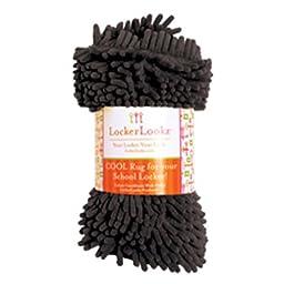 Locker Lookz Cool Decor Shaggy Rugs for Girl School Lockers (black)