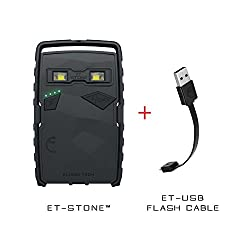 Elixier Tech ET-Stone Utility (1 Solar Power Bank and 1 ET USB Cable) - Black