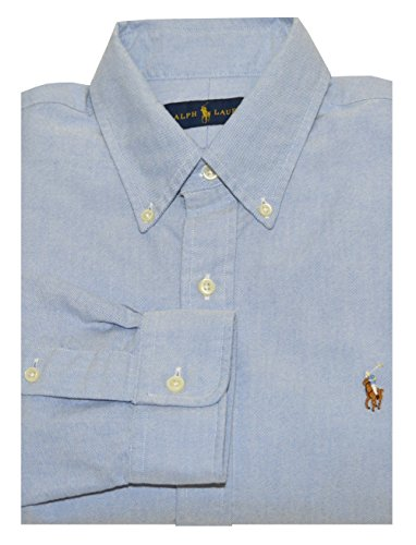 Polo Ralph Lauren Mens Long Sleeve Button Down Shirt-BSR Blue-Large (Greater Good Clothing compare prices)