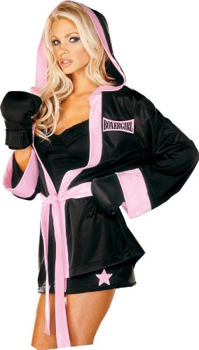 Boxer Girl Sexy Womens Adult Costume Sports Costumes