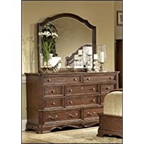Dresser and Mirror of Stanfordson Collection by Homelegance