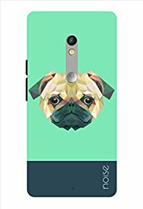 Noise Crystal Pug-Green Printed Cover for Motorola Moto X Play