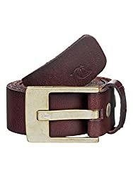 Quiksilver Mens Section'154 Belt X-Large/38 Chocolate