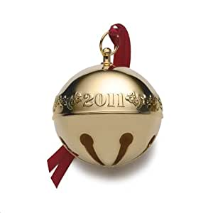 Wallace 2011 Gold Plated Sleigh Bell Ornament, 22nd Edition