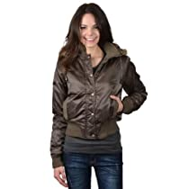 Greenlander Juniors Poly Satin Jacket with Faux Fur Trimmed Hoodie