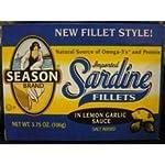 Sardine Fillets in Lemon Garlic Sauce, 3.75 ounce tins (Pack of 12)