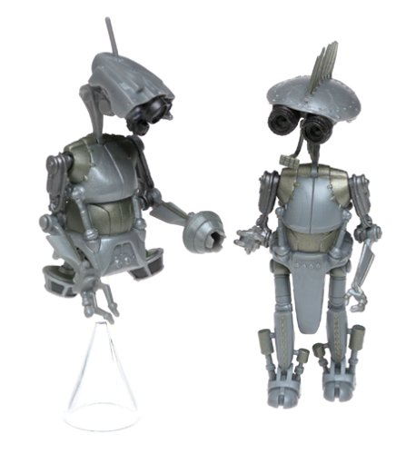Star Wars AOTC Sp-4 & Jn-66 Research Droids Action Figures