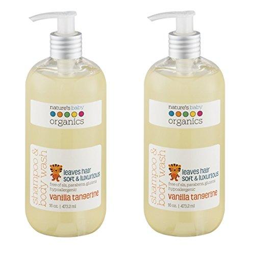 天然有机,好莱坞明星妈妈都选它!Nature's Baby 香草柑橘味洗发沐浴二合一共2瓶