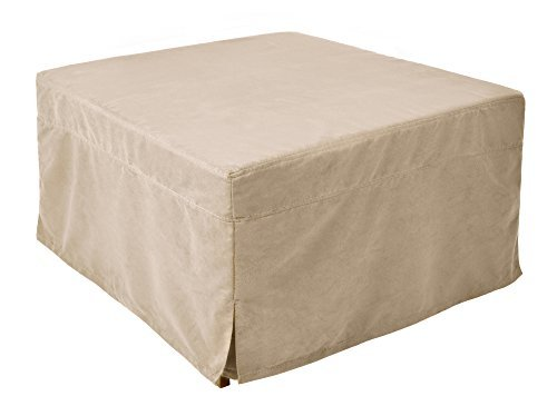 Nova furniture group magical ottoman sleeper with microfiber slip cover, beige