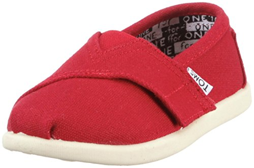 Toms Classic Red Canvas 013001D13-RED Tiny 6 (Toms Shoes Size 6 compare prices)