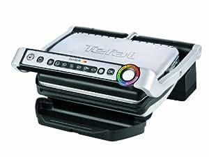 Grill électrique TEFAL Optigrill GC702D01 avec capteurs d'épaisseur et de température et indicateur lumineux de progression de cuisson - 2 à 4 personnes - 6 programmes
