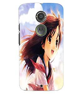 ColourCraft Beautiful Girl Design Back Case Cover for MOTOROLA MOTO X2