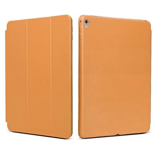 """iPad Pro 9.7 """"Case, JGOO [Full Body Protection] Ultra Slim Folio Abdeckung mit Standplatz und Magnetic Smart Cover Auto-Spur-Schlaf On / Off-Funktion, Klassische Eleganz Stil für iPad Pro 9.7 Zoll (2016 Release), orange"""