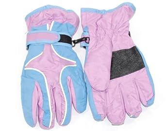 Childrens/Kids Girls Heavy Duty Waterproof Padded Thermal Ski/Winter Gloves