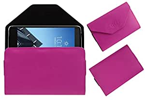 Acm Premium Flip Flap Pouch Case For Alcatel Idol 4s Mobile Leather Cover Magnetic Closure Pink