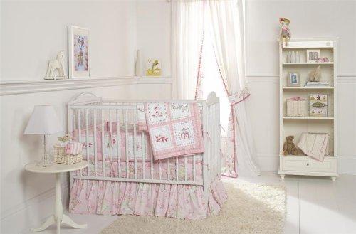 Pink Pagoda Crib Bedding Set front-557184