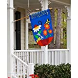 Garden Size Applique Flag Spring Sho