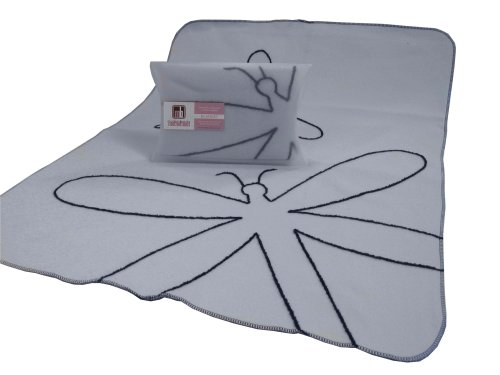 Modern Basics Blue Dragon Fly Blanket 40X30