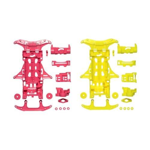 ミニ四駆限定シリーズ VS蛍光カラーシャーシセット (ピンク/イエロー) 94838