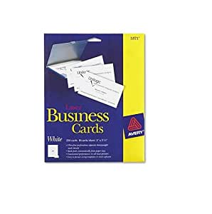 Amazon Avery Laser Perforated Business Card A8 2
